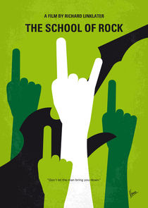 No668 My The School of Rock minimal movie poster von chungkong