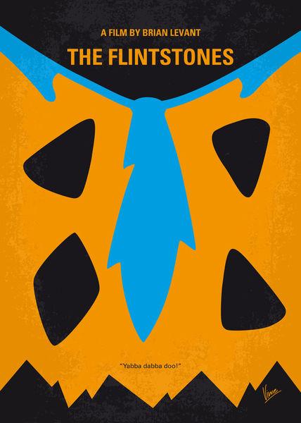 No669-my-the-flintstones-minimal-movie-poster