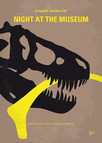 No672 My Night at the Museum minimal movie poster by chungkong
