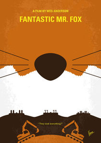 No673 My Fantastic Mr Fox minimal movie poster by chungkong