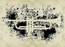 Inked Trumpet by Barbara St. Jean
