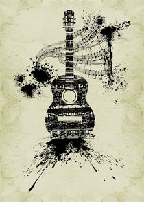 Inked Guitar by Barbara St. Jean