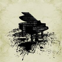 Inked Piano by Barbara St. Jean