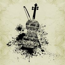 Inked Cello by Barbara St. Jean