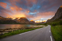 Beautiful road to drive through the fjords of northern Norway by Horia Bogdan