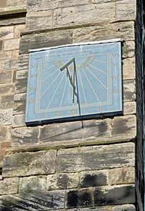 Vertical Sundial on St Mary's Church, Tutbury by Rod Johnson