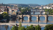View of central bridges of Prague by Sergey Tsvetkov
