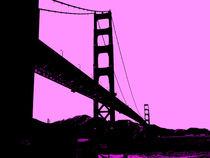 Golden Gate Bridge in Pink by Nate Jekich