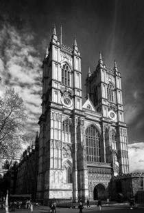 Westminster Abbey, London, in monochrome von Graham Prentice
