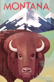 Montana Travel Poster by Benjamin Bay