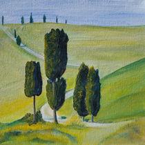 Berühmte Zypresse in der Toskana von Christine Huwer