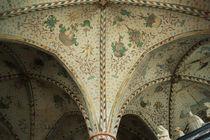 Florale Gewölbebemalung im Dom Roskilde von Sabine Radtke