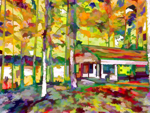 Houses-and-autumn-trees