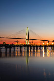 Mount Pleasant Bridge, South Carolina, USA by geoland