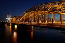 Hohenzollernbrücke und Dom, Köln, Nordrhein-Westfalen, Deutschland von geoland