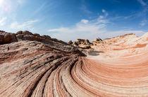 Wellenformen in Sandstein, White Pockets, Vermilion Cliffs National Monument, Arizona, USA by geoland