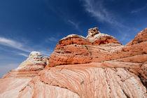 Dünenformen an Sandsteinfelsen, White Pockets Gesteinsformation, Vermilion Cliffs National Monument, Arizona, USA von geoland