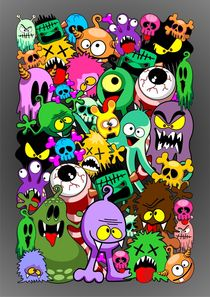 Doodles Monsters Characters Saga by bluedarkart-lem