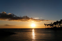Sonnenuntergang unter Palmen, Waikoloa Beach, Big Island by geoland