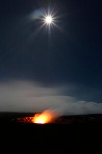 Kilauea Vulkaneruption bei Vollmond von geoland