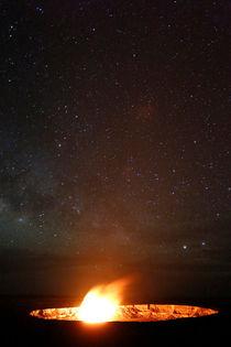 Vulkanische Eruption, Halema'uma'u Krater, Kilauea Vulkan, Big Island of Hawai'i, USA von geoland
