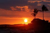 Sonnenuntergang mit Menschen, Kona Airport Beach, Hawai'i by geoland