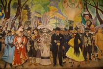 Dream in the Alameda Mural Mexico  City von John Mitchell