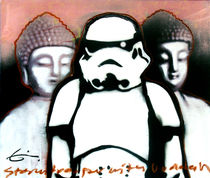 Stormtrooper And Buddha - Espen Eiborg by Fine Art Nielsen