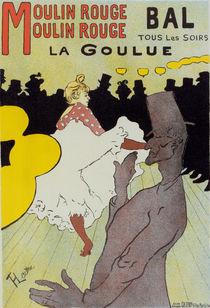 Poster for le Moulin Rouge la Goulue. Henri deToulouse-Lautrec by artokoloro