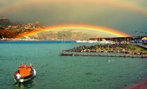 The two-story rainbow. Sicily, Italy von Yuri Hope