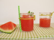 Slush Eis mit Melone und Minze von Heike Rau