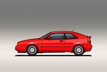 VW Corrado G60 Red by monkeycrisisonmars