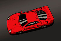Ferrari F40 Red by monkeycrisisonmars