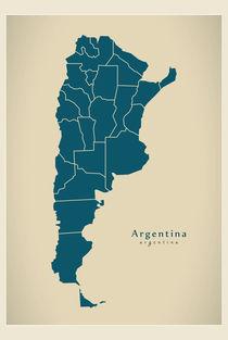 Argentina Modern Map von Ingo Menhard