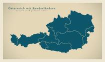 Austria Modern Map von Ingo Menhard