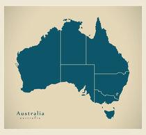 Australia Modern Map von Ingo Menhard