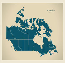Canada Modern Map by Ingo Menhard
