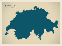 Switzerland Modern Map by Ingo Menhard