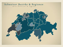 Switzerland Modern Map von Ingo Menhard