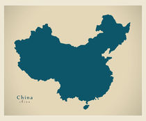 China Modern Map by Ingo Menhard