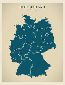 Germany Modern Map by Ingo Menhard