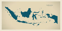 Indonesia Modern Map by Ingo Menhard