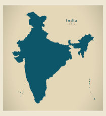 India Modern Map by Ingo Menhard