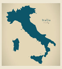 Italy Modern Map by Ingo Menhard