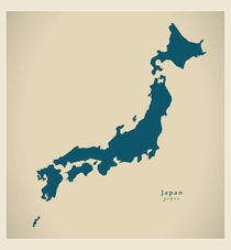 Japan Modern Map by Ingo Menhard