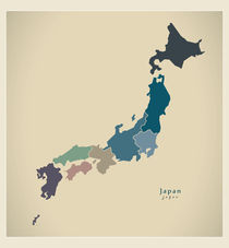 Japan Modern Map von Ingo Menhard