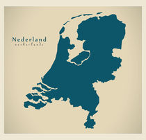 Netherlands Modern Map by Ingo Menhard