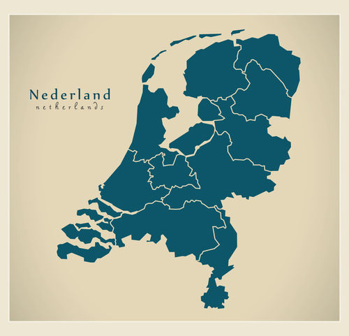 Modern-map-nl-netherlands-with-provinces
