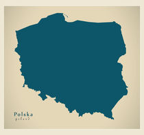 Poland Modern Map by Ingo Menhard