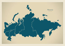 Russia Modern Map by Ingo Menhard